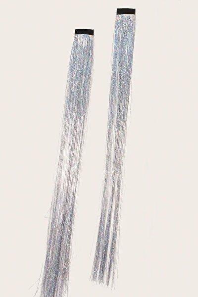 Kadın Çıtçıtlı Gümüş Hair Tinsel