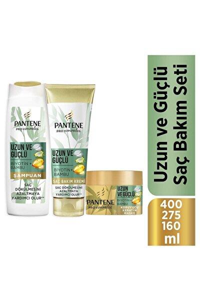 Uzun Ve Güçlü Bambu Ve Biotinli Saç Bakım Seti (şampuan 400 Ml + Saç Kremi 275 Ml + Maske 160 Ml)