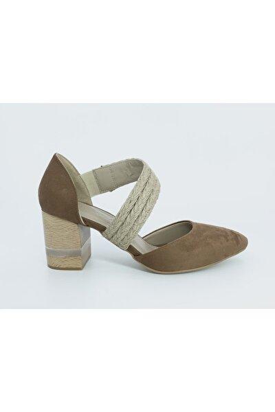 Kadın Kahve Topuklu Ayakkabı