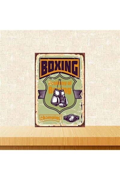 Boxing 20-30 cm Retro Ahşap Poster Tkfx4223