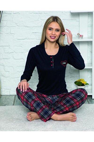 Kadın Siyah Homewear Bambu Pijama Takımı