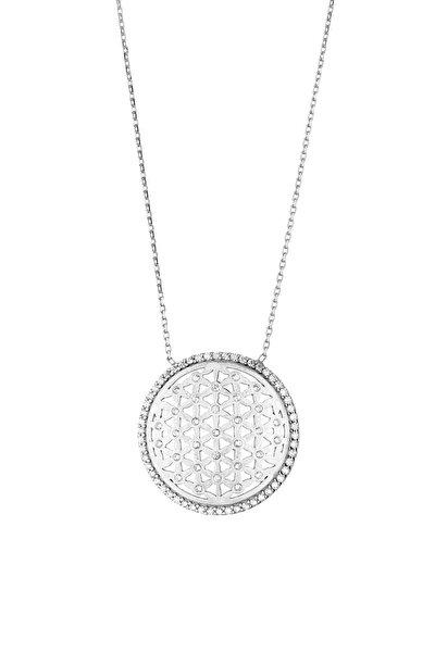 Yaşam Çiçeği Kadın Gümüş Kolye