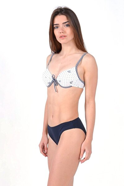 Kadın Lacivert Full Lycra Destekli Bikini
