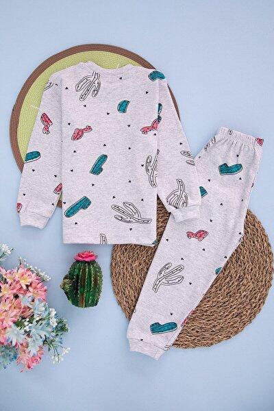 Çocuk Kaktüs Kreş Pijama Takımı Pamuklu Mevsimlik