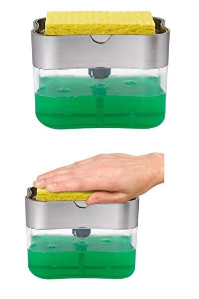 Sıvı Sabunluk Pompalı Sünger Hazneli Sıvı Sabun Dispenseri 385ml