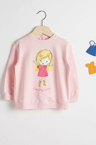 Kız Bebek Pembe R87 Sweatshirt