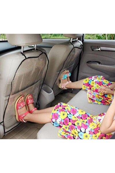 Araba Oto Koltuk Arkası Koruyucu Şeffaf 2 Li Kılıf
