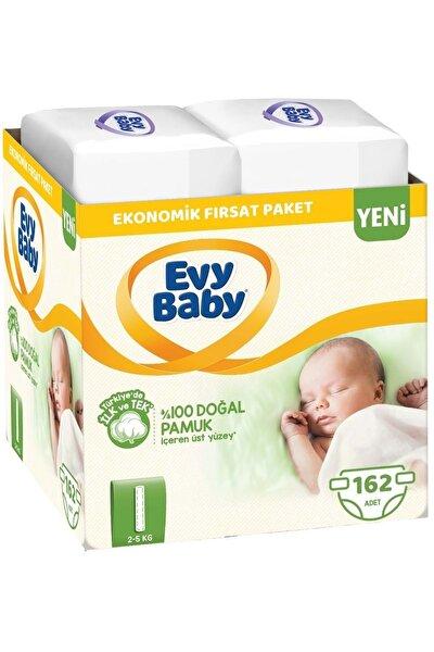 Bebek Bezi Beden:1 (2-5kg) Yeni Doğan 162 Adet Ekonomik Fırsat Pk