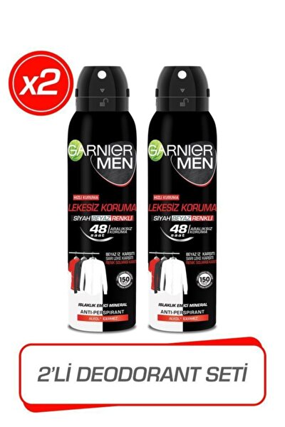 2'li Men Lekesiz Koruma Sprey Erkek Deodorant Seti