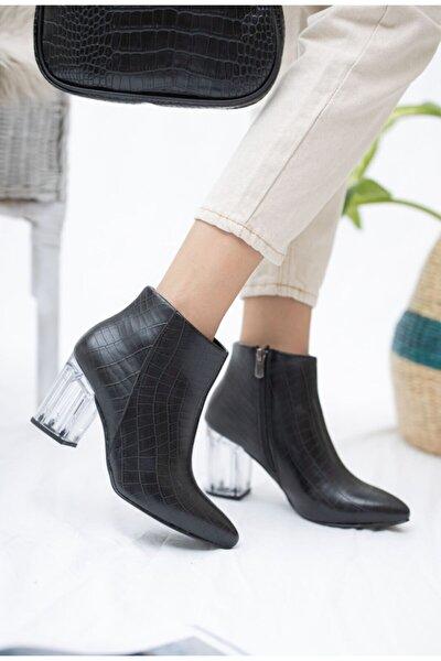 Kadın Siyah Rayne Kısa Topuklu Bot