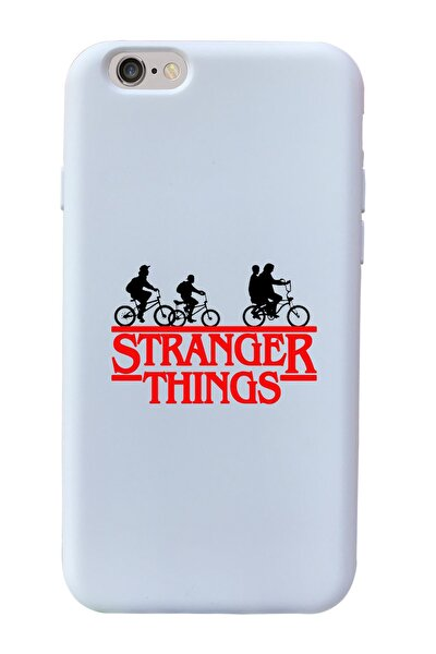 Stranger Things Tasarımlı Beyaz Lansman Kılıf Iphone 6-6s