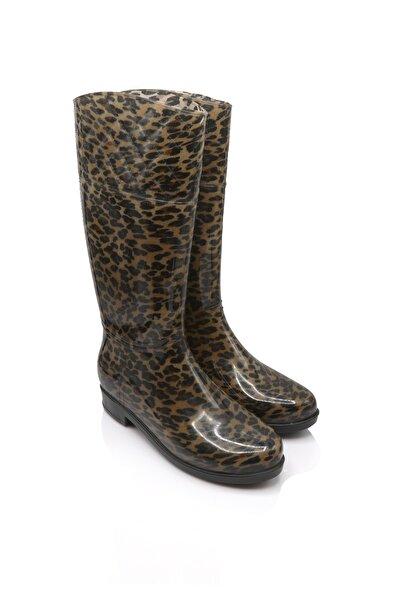 Tw Kolombiya 20 Leopar Kadın Yağmur Çizmesi