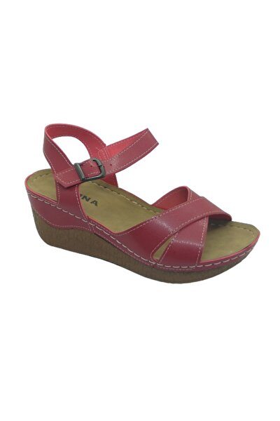 Felina Kırmızı Topuklu Sandalet