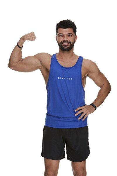 Erkek  Lacivert Fitness Sporcu Atleti