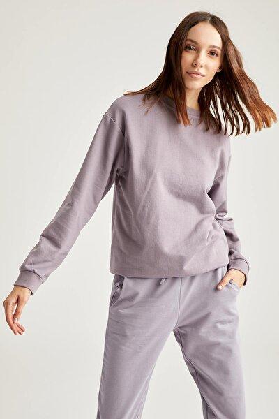 Yarım Düşük Omuz Sweatshirt