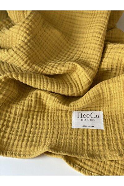 Sarı  %100 Pamuk Four Battaniye
