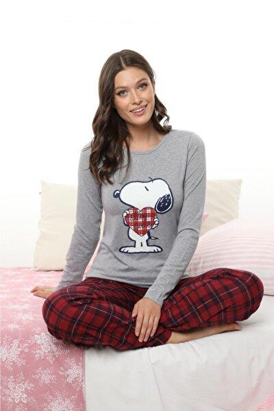 Kadın Gri Pijama Takımı