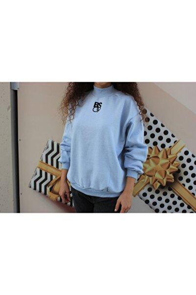 Kadın Mavi Sweatshirt