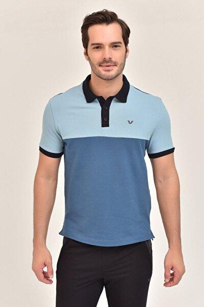 Mavi Erkek T-Shirt Büyük Beden GS-8981
