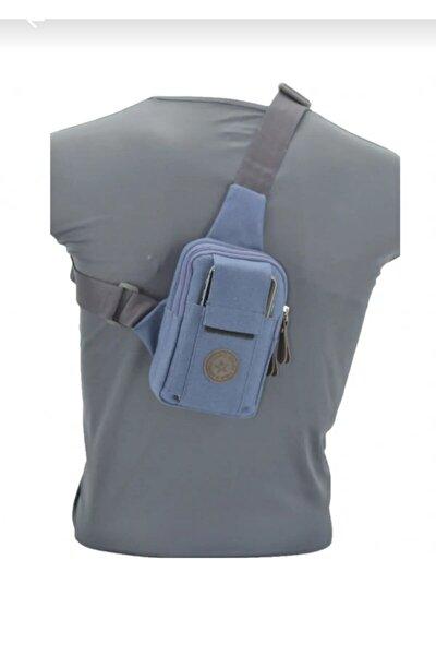 Erkek Lacivert Çapraz Çanta Omuz Göğüs Telefon Çantası
