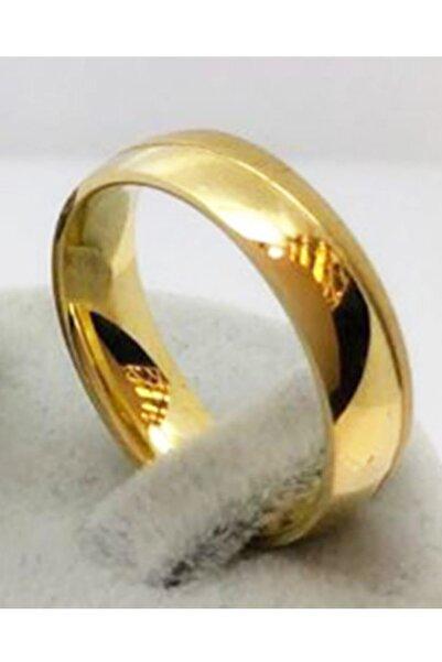 Unisex Altın Imitasyon Altın Kaplama Alyans