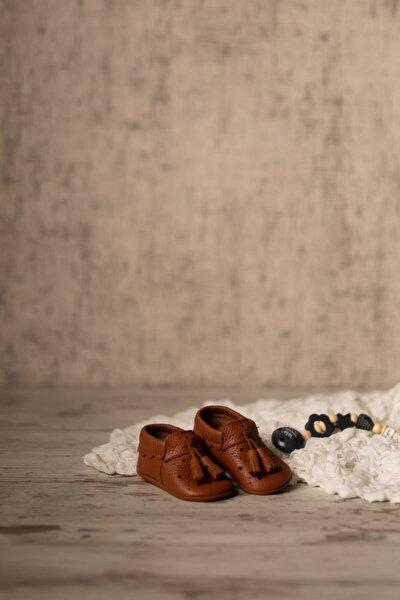 Erkek Bebek Taba Royal Serisi Deri İlk Adım Ayakkabısı