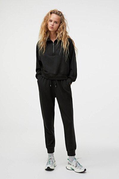 Kadın Siyah Tencel® Jogger Pantolon