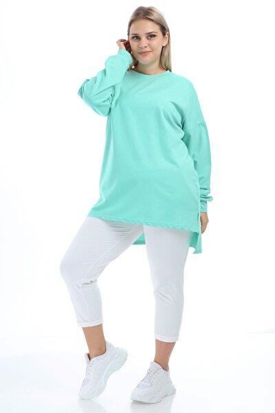 Kadın Mint Yeşili Tunik Sweat Bis Yaka Bcs Tb21Kb258580