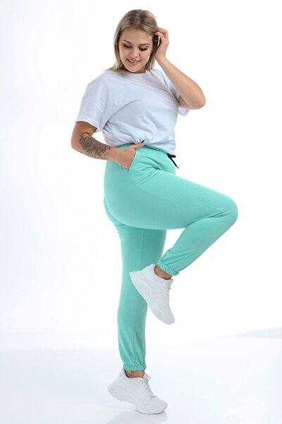 Kadın Mint Yeşili Alt Eşofman Çımalı Lastik Paça Tb21Kb098581