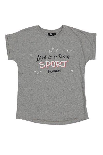 HMLCARLINA   T-SHIRT S/S GRI MELANJ Kız Çocuk T-Shirt 100581136