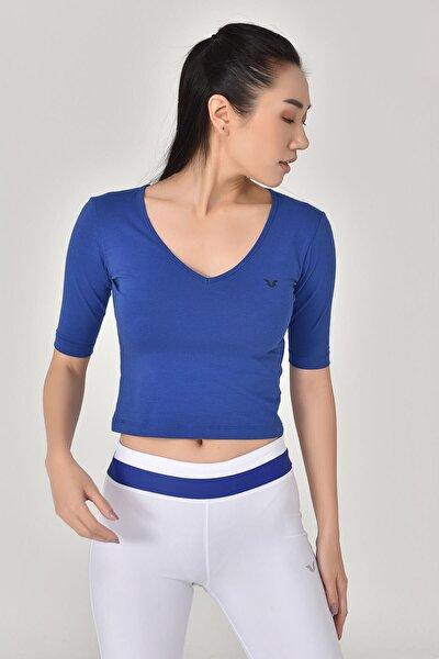 Mavi Kadın Yoga T-Shırt GS-8105