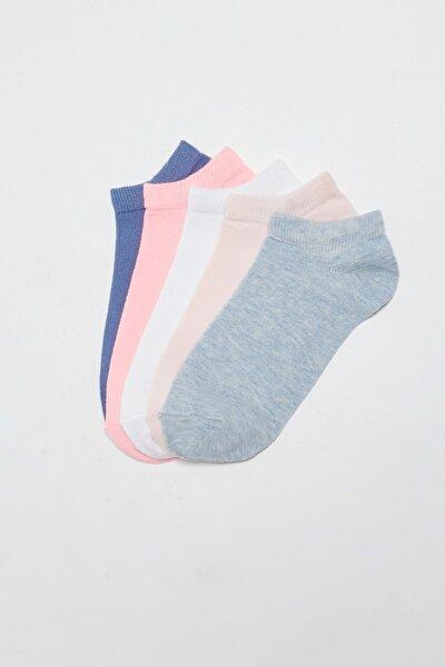 Kadın Açık Mavi Melanj LCW DREAM Patik Çorap