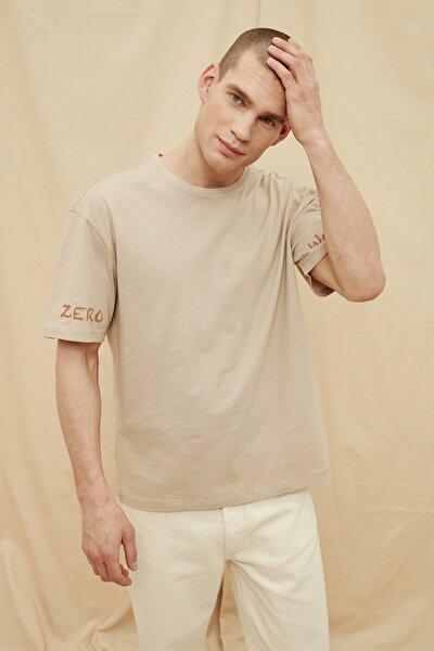 Taş Erkek %100 Organik Pamuk Oversize Fit T-Shirt TMNSS21TS1447