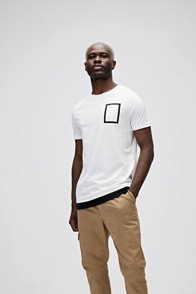 Erkek Kırık Beyaz Tişört