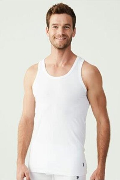 Erkek Beyaz Modal 2 Li Atlet