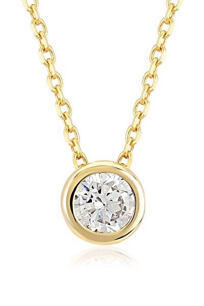 Gelin Diamond 14 Ayar Altın Minimal Tektaş Kolye