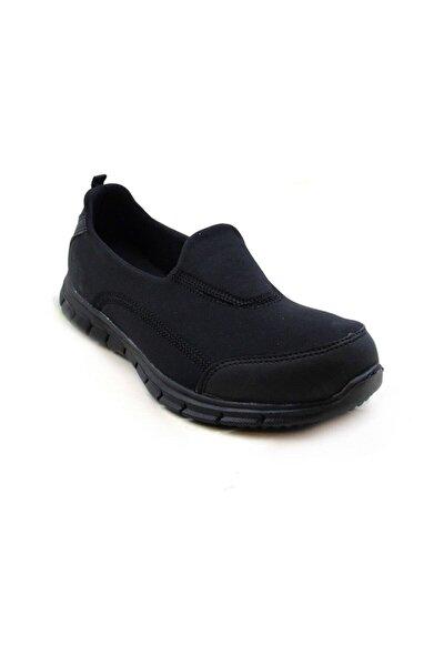 Kadın Siyah Lastikli Ayakkabı Z5480