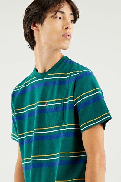 Relaxed Fit Pocket Tee Erkek Çok Renkli Tişört