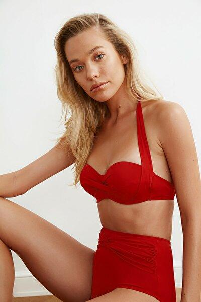Kırmızı Alternatif Kullanımlı Bikini Üstü TBESS20BU0223