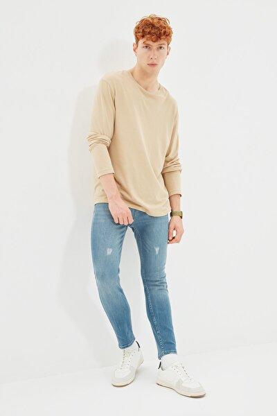 Mavi Erkek Skinny Fit Cropped Jeans TMNSS21JE0054