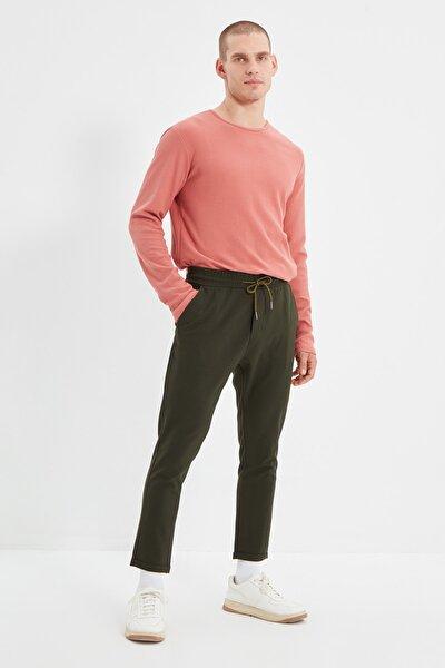 Haki Erkek Beli Lastikli Slim Fit Pantolon TMNAW21PL0107