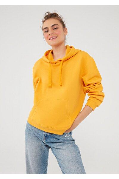 Sarı Kapüşonlu Sweatshirt 167299-35004
