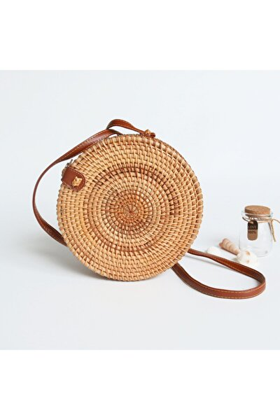 Rattan Bambu Hasır Çanta