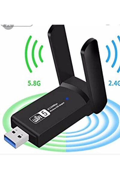 Dual Band Usb 3 0 Adaptör Kablosuz Wifi Alıcı Ac1200 Mbps