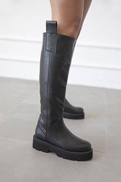 Gilda Kadın Deri Çizme Siyah