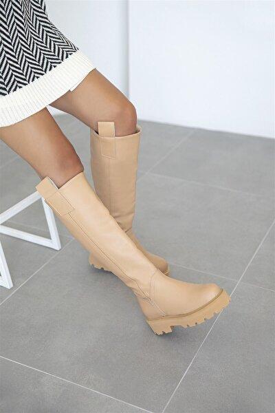 Gilda Kadın Deri Çizme Nude