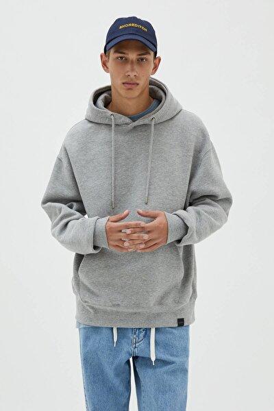 Basic Kapüşonlu Sweatshirt