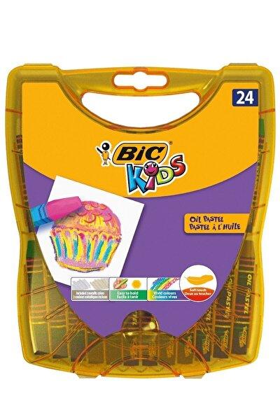 Kids Yağlı Pastel Boya 24 Renk Sert Plastik Kutu