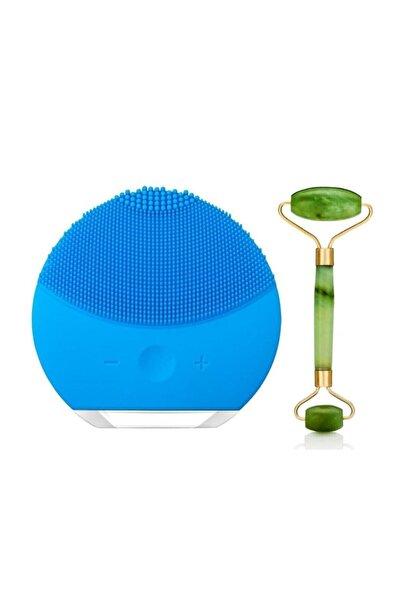 Luna Mini 2 Titreşimli Cilt Temizleme Cihazı Şarjlı + Yeşim Taşı Roller