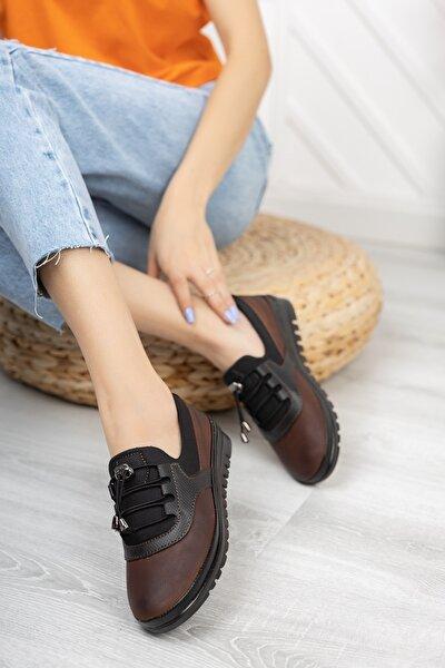 Içi Deri Ortopedik Taba Cilt Günlük Bayan Ayakkabı
